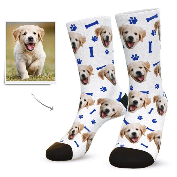 MyPicSocks Custom Face Socks White / L (Women's 12+ / Men's 10-13) Custom Dog Face Socks - Gifts For Dog Lovers