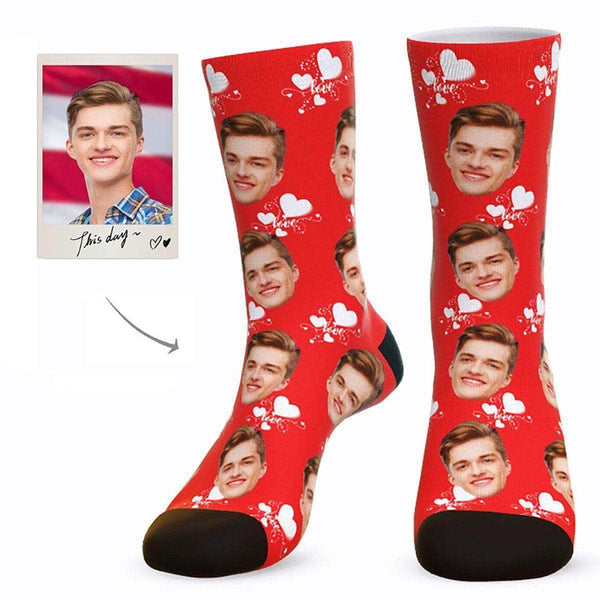Custom Love Face Socks - Gifts For Your Boyfriend