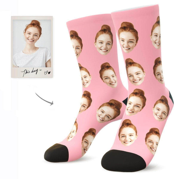 MyPicSocks Custom Face Socks BLUSH / L (Women's 12+ / Men's 10-13) Custom Facesocks - Put Your Loved One's Face On Socks