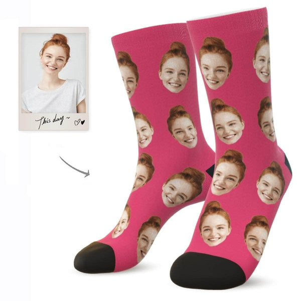 MyPicSocks Custom Face Socks BUBBLE GUM / L (Women's 12+ / Men's 10-13) Custom Facesocks - Put Your Loved One's Face On Socks