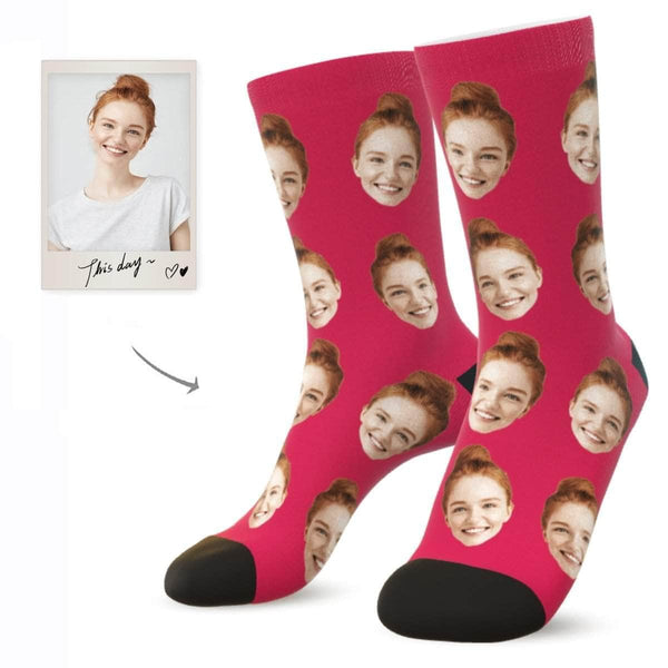 MyPicSocks Custom Face Socks ROUGE / L (Women's 12+ / Men's 10-13) Custom Facesocks - Put Your Loved One's Face On Socks