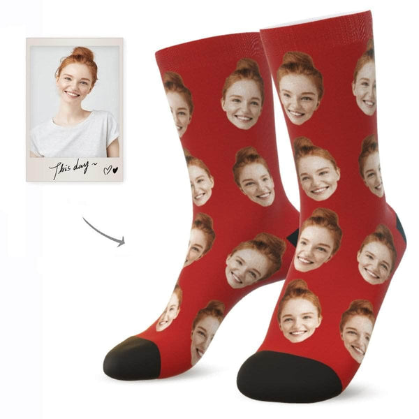 MyPicSocks Custom Face Socks RUBY / L (Women's 12+ / Men's 10-13) Custom Facesocks - Put Your Loved One's Face On Socks