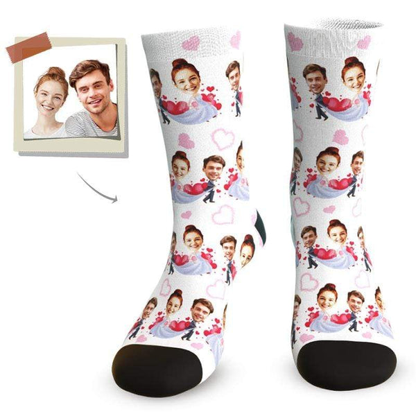 "MyPicSocks Custom Face Socks Custom Love Face Socks - ""YOU ARE MY DARLING"""