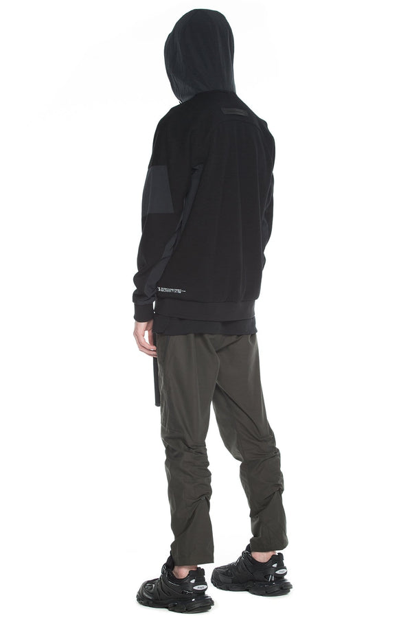 MyPicSocks Hoodie Sweat HOODIE - FALCON - JERSEY  WITH NYLON PANELS - BLACK