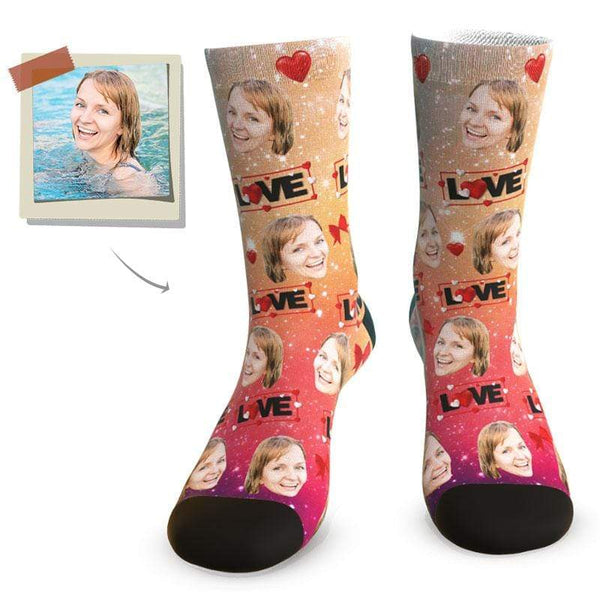 "MyPicSocks Custom Face Socks L (Women's 12+ / Men's 10-13) ""Hot Girl"" Face Socks - Best Personalized Gifts For Girlfriend"