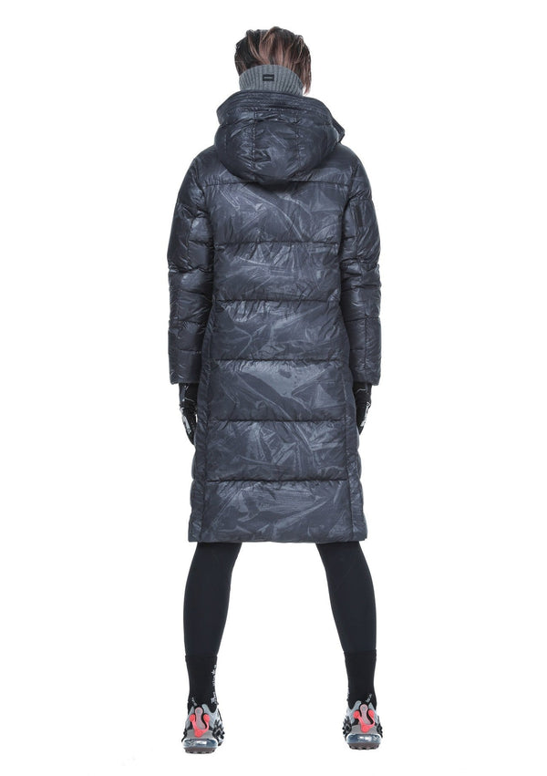 MyPicSocks Down Jacket KRAKATAU-Aitken-Long Down Jacket-Qw265/21-Grey Print