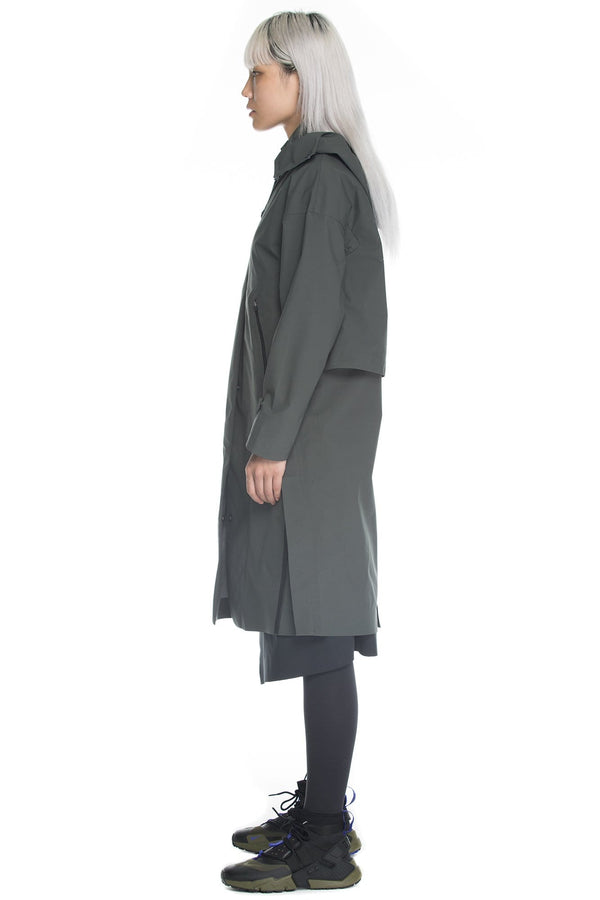 MyPicSocks Jacket TRENCH COAT - BLERIOT - HOODED - SAND