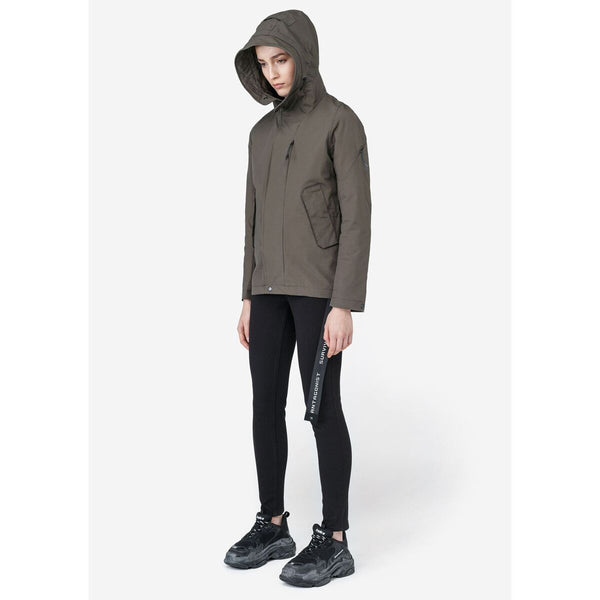 MyPicSocks Jacket Women's Light Short Parka Q168/5 BISMUTH