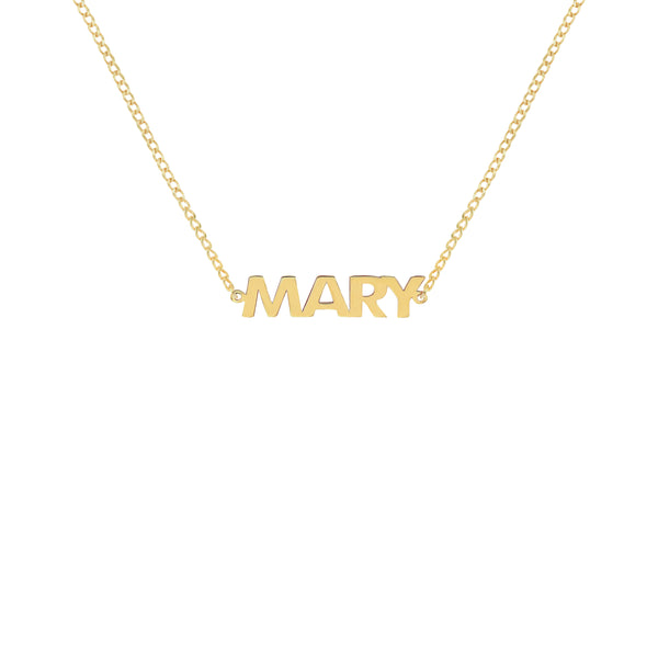 Freya Classic Name Necklace in Yellow Gold