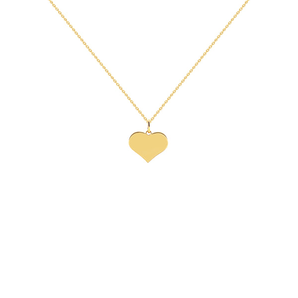 Astrid Yellow Gold Heart Necklace