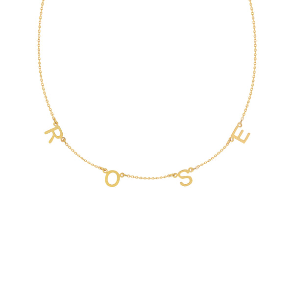 Amalfi Station Necklace in Yellow Gold