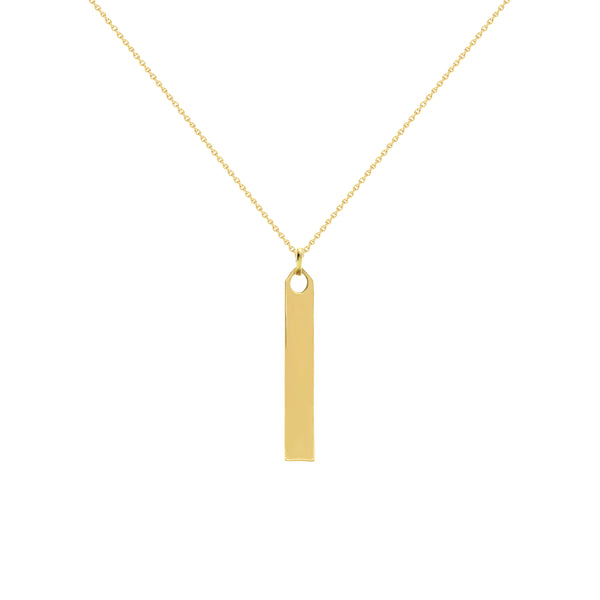 Olivia Yellow Gold Vertical Bar Necklace