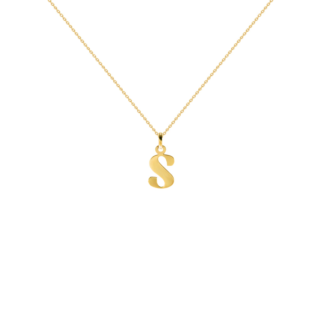 Czarina Classic Gold Initial Necklace