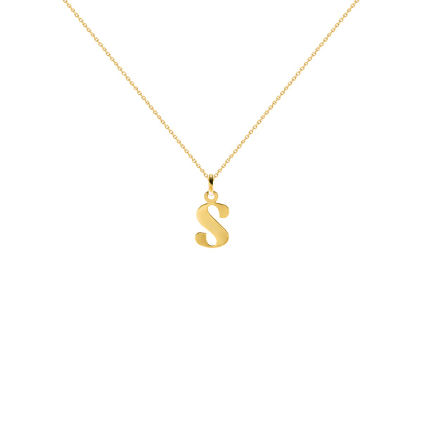 Czarina Classic Initial Necklace in Yellow Gold