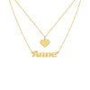 Renee Two-Layer Name Necklace in Yellow Gold- Layaway