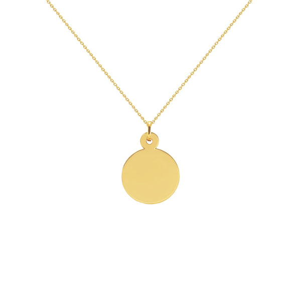 Naomi Yellow Gold Disc Necklace