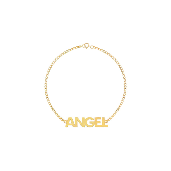 Paige Classic Name Bracelet in Yellow Gold