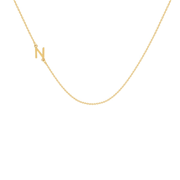 Sofia Initial Necklace in Yellow Gold