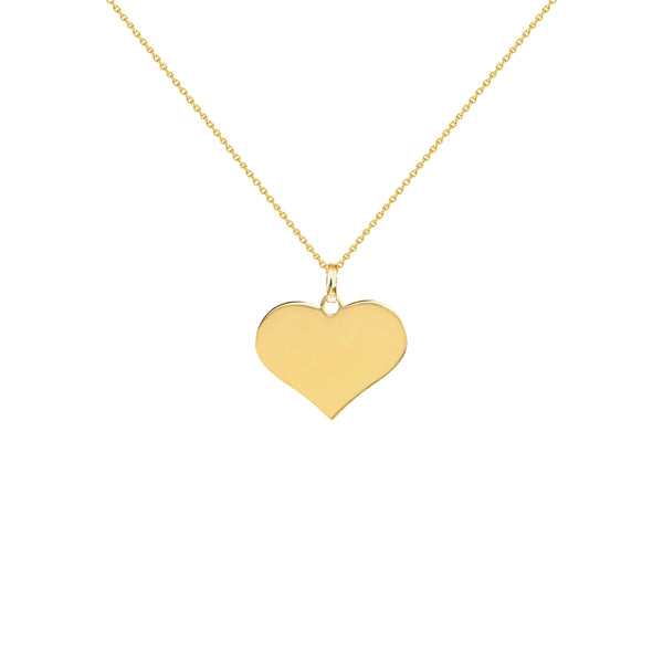 Cherie Yellow Gold Heart Necklace