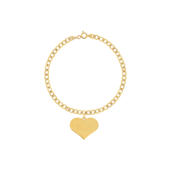 Serena Yellow Gold Heart Bracelet