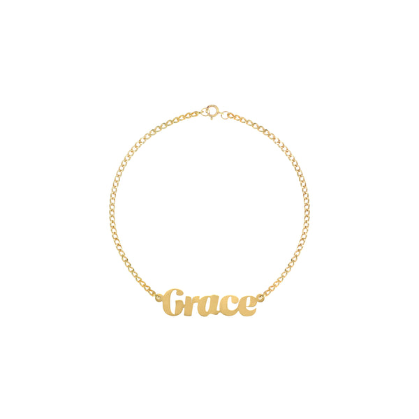 Eloise Script Name Bracelet in Yellow Gold