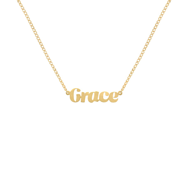 Tiffany Script Name Necklace in Yellow Gold