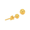 18K Chinese Gold Balls Stud Earrings