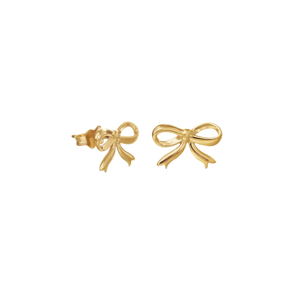 14K Italian Gold Ribbon Stud Earrings