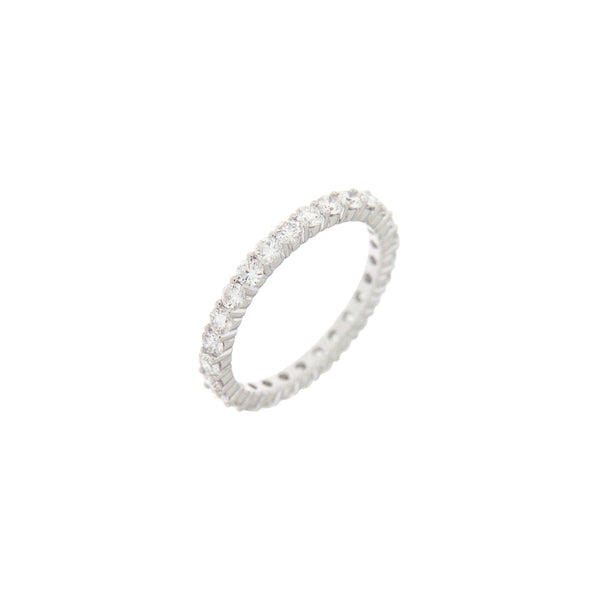 Diamond Full Eternity Ring in 14K White Gold
