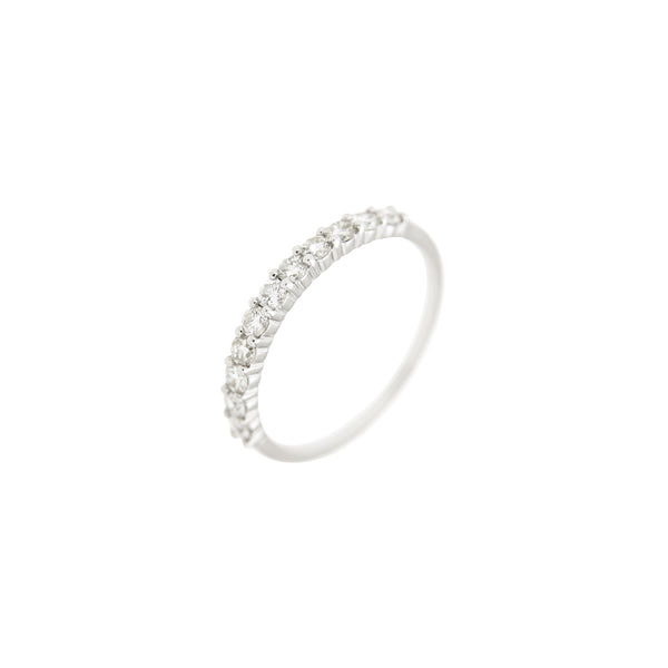 Diamond Half Eternity Ring in 14K White Gold