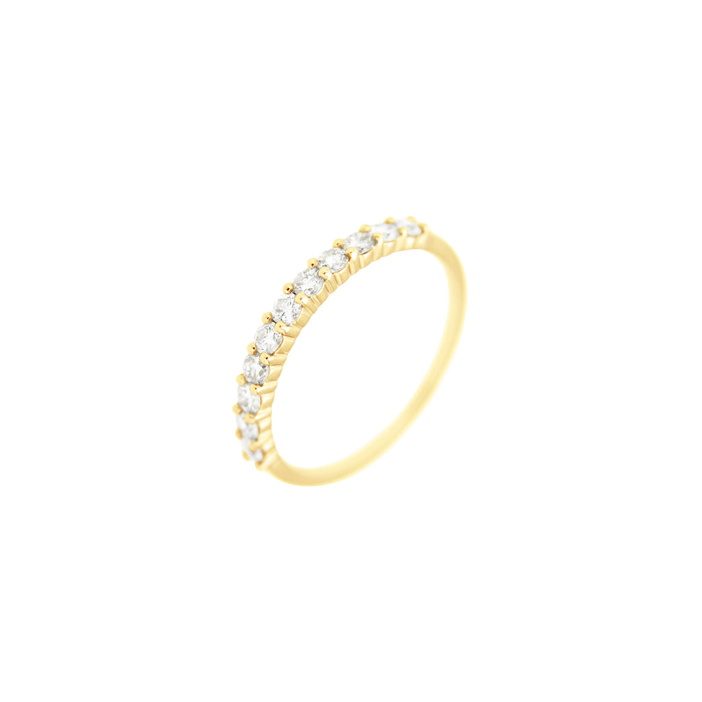 Diamond Half Eternity Ring in 14K Yellow Gold