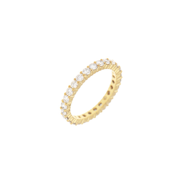 Diamond Full Eternity Ring in 14K Yellow Gold