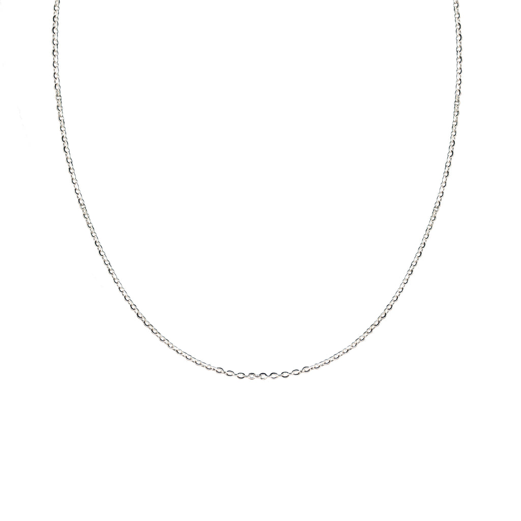 "14K Italian White Gold Fantasia 18"" Chain Necklace"