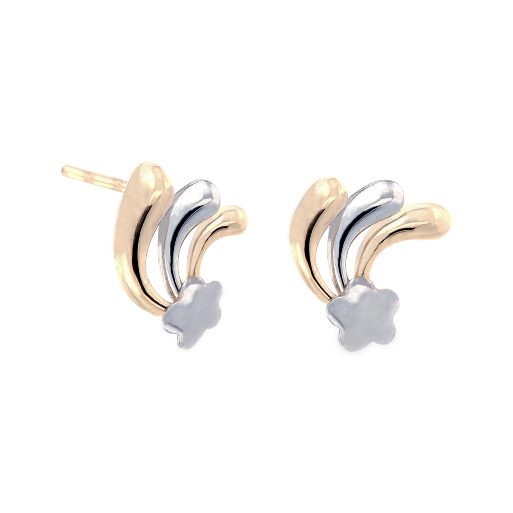 14K Italian Gold Banana Stud Earrings