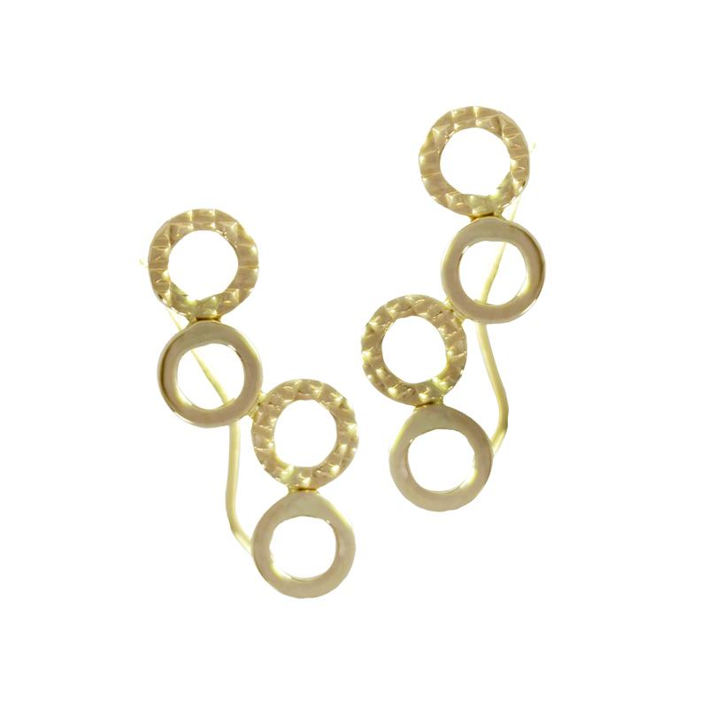 14K Italian Gold Infinity Crawlers Kids Stud Earrings