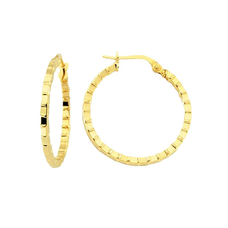 18K Saudi Gold 26mm Hoop Earrings