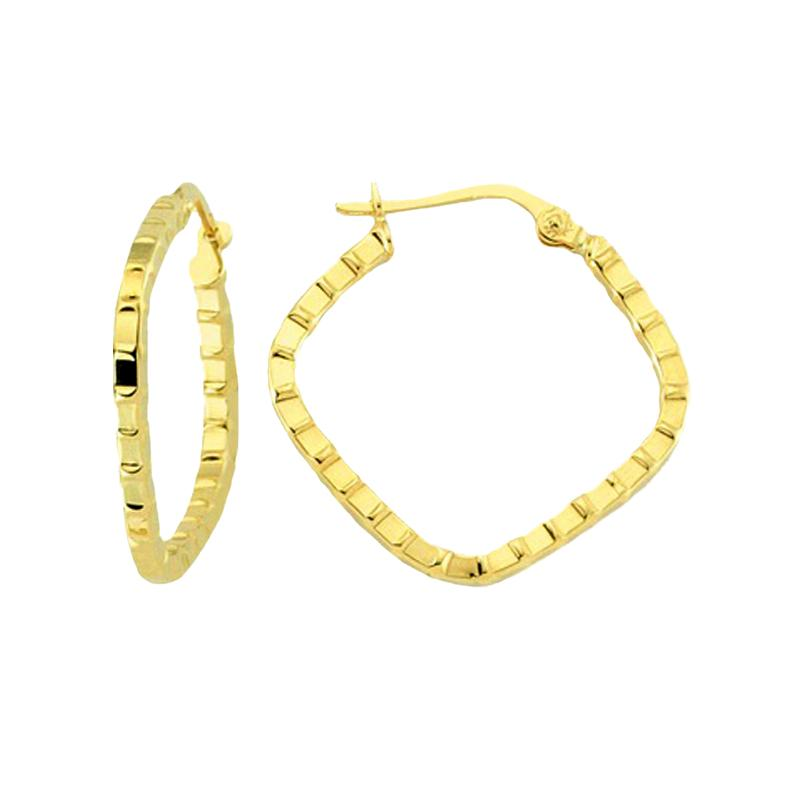 18K Saudi Gold 22MM Hoop Earrings