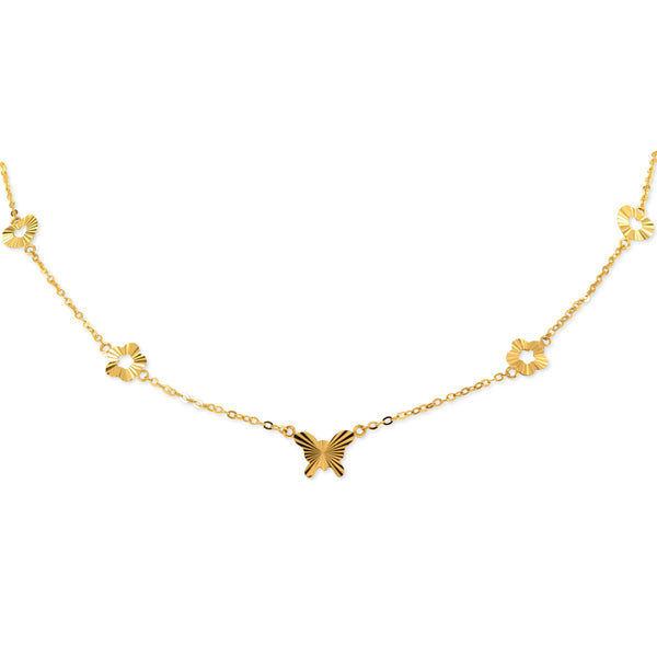 18K Golden Medley Choker Necklace