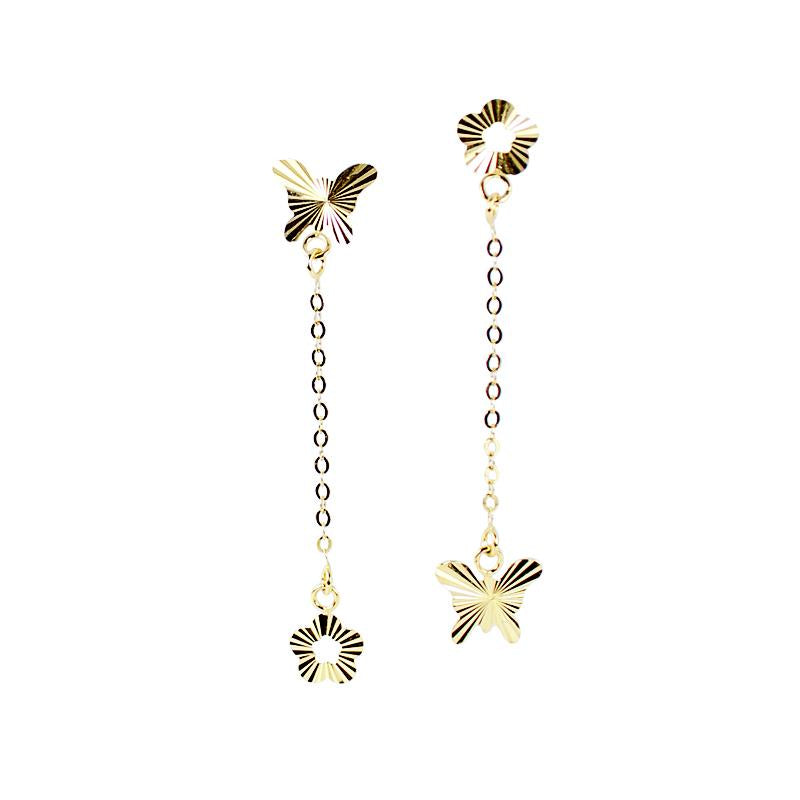 18K Golden Medley Dangling Earrings