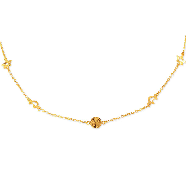 18K Golden Wonder Choker Necklace