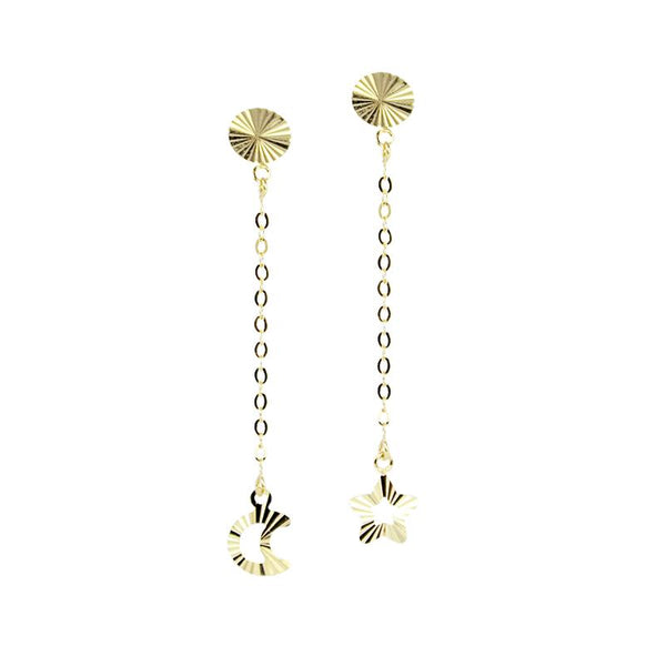 18K Golden Wonder Dangling Earrings