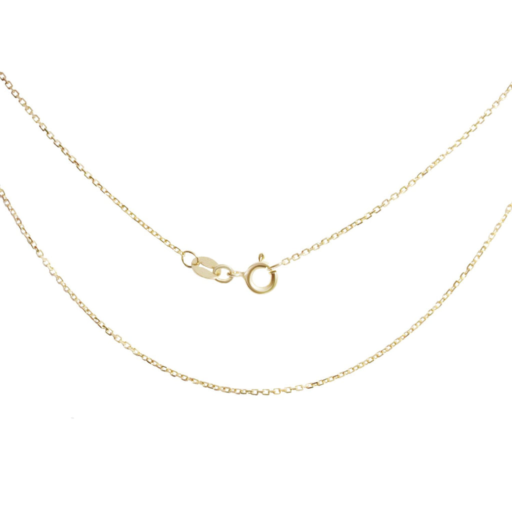 18K Saudi Gold Cable Chain Necklace