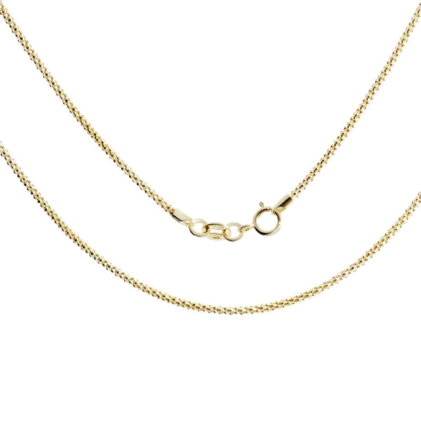 18K Saudi Gold Popcorn Necklace  18""