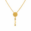 18K Chinese Gold Round Shaped Choker Necklace
