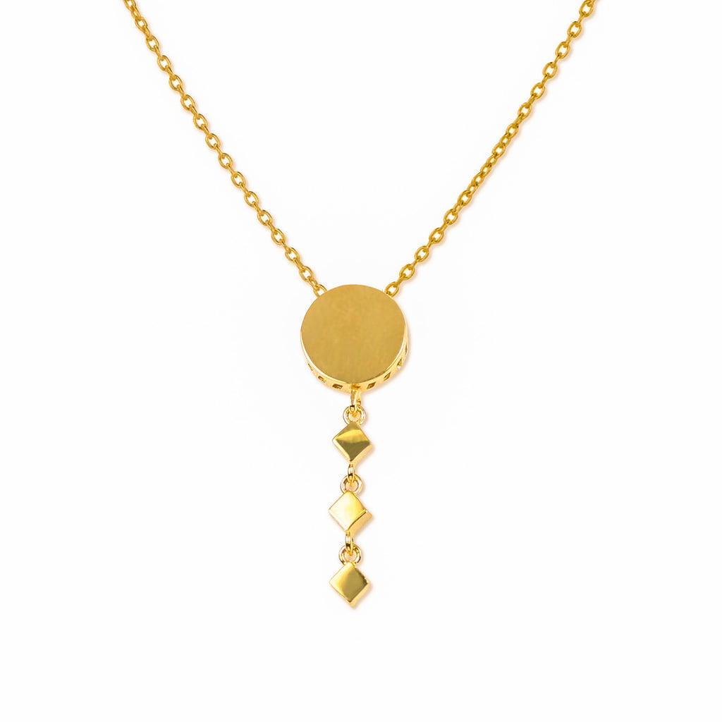 18K Chinese Gold Round Shaped Necklace