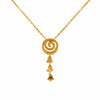 18K Chinese Gold Twirl Shaped Necklace