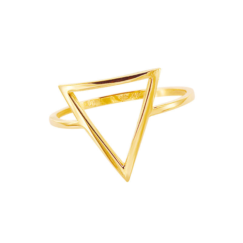 Keepsake Collection 14K Italian Gold Triangle Ring
