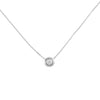 Keepsake Collection Ritz Round Necklace in 14K Italian White Gold 14""