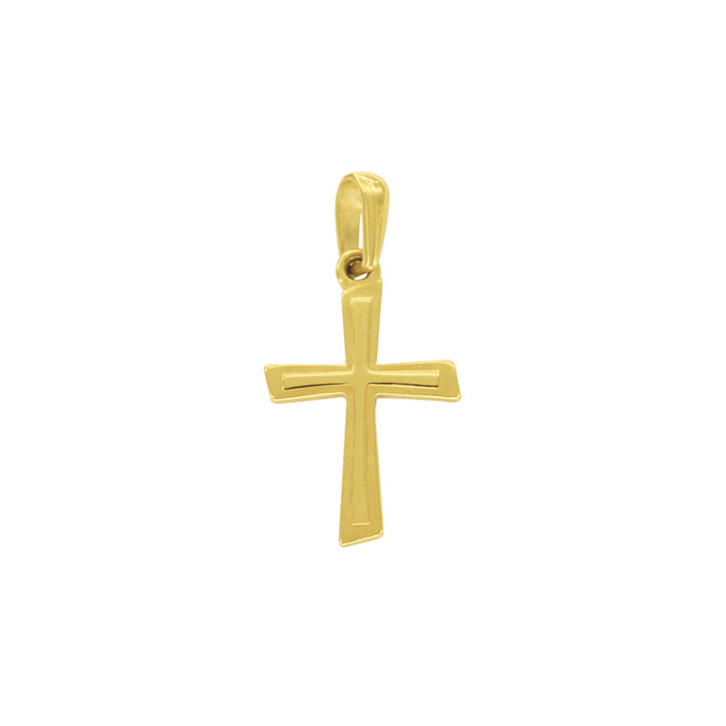 18K Saudi Gold Cross Pendant