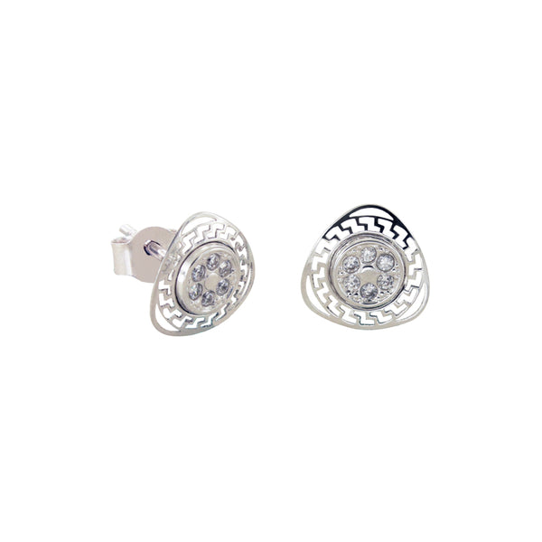 14K Italian Gold Kids Fancy Cubic Zirconian Stud Earrings